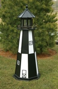 Cape Henry Electric Painted Wooden Lighthouse 60