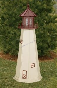Cape May Electric Painted Wooden Lighthouse  48