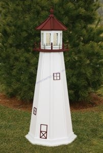 Marblehead  Electric Painted Wooden Lighthouse  48
