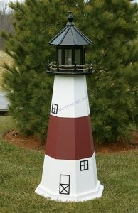 Montauk Electric Painted Wooden Lighthouse  72