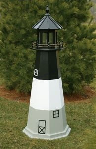 Oak Island Electric Painted Wooden Lighthouse  48
