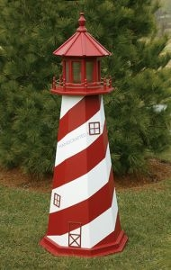 White Shoal Electric Painted Wooden Lighthouse  48