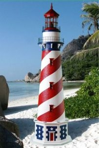 American Stucco Electric Lawn Lighthouse 96