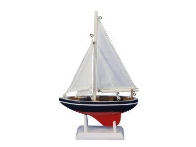 Wooden Endeavour Model Sailboat Decoration 9\