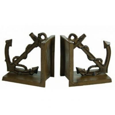 Antique Brass Anchor Bookends 5