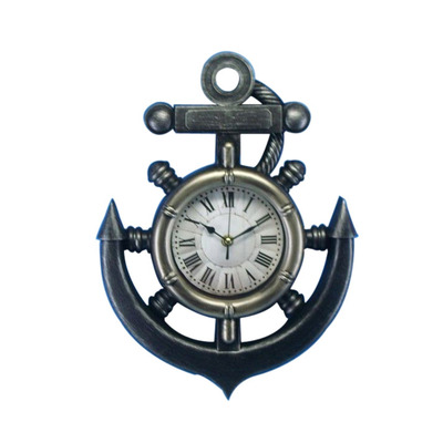 Shipwheel and Anchor Wall Clock 15