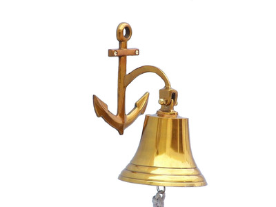 Brass Hanging Anchor Bell 10
