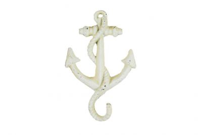 Antique White Cast Iron Anchor Hook 5\