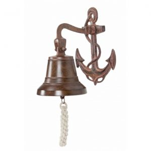 Antique Solid Brass Anchor Bell 8