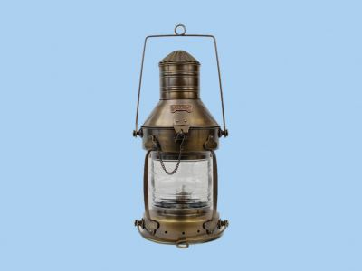 Antique Brass Ship Anchor Oil Lantern 20