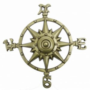 Solid Brass Compass Rose 12