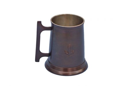 Antique Copper Anchor Mug With Cleat Handle 5\