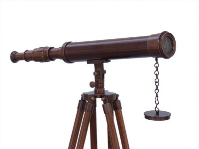 Floor Standing Antique Copper Harbor Master Telescope 50\