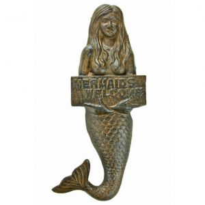Rustic Cast Iron Mermaid Welcome Sign 12