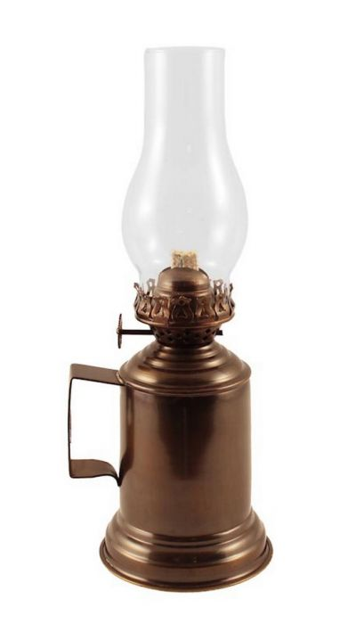 Brass Antique Tavern Mug Oil Lamp 14