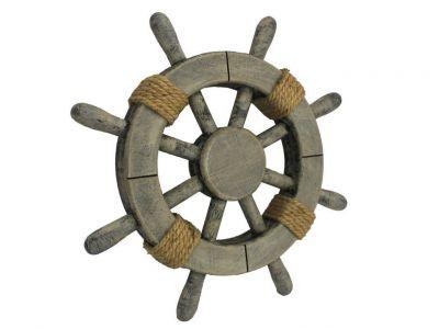 Rustic Decorative Ship Wheel 12\