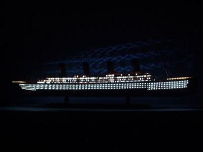 "RMS Aquitania Limited Model Cruise Ship 40"" w/ LED Lights"