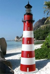 Assateague Stucco Electric Lawn Lighthouse 48