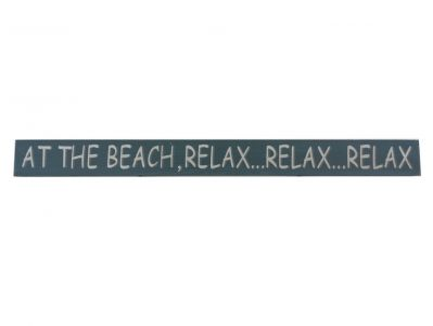 Wooden At the Beach, Relax Beach Sign 18""