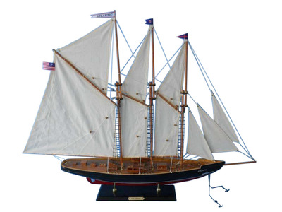 Wooden Atlantic Model Sailboat Decoration 35""