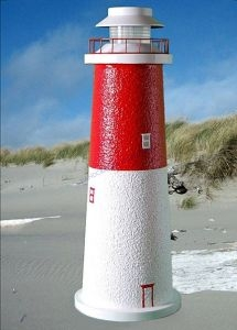 Barnegat Stucco Solar Landscape Lighthouse 24