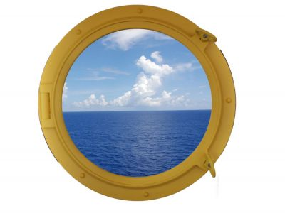 Yellow Porthole Window 24
