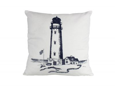 Blue Lighthouse Decorative Throw Pillow 16\