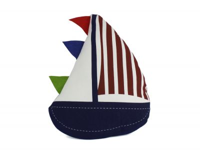 Flag Hoisted Sailboat Nautical Decorative Throw Pillow 17\