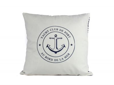 Yacht Club Anchor Decorative Throw Pillow 16\