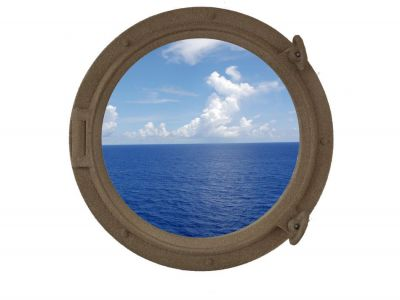 Sandy Shore Porthole Window 15