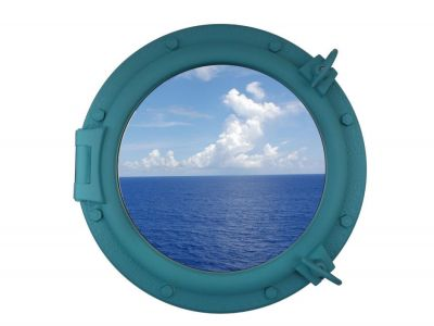 Light Blue Porthole Window 20