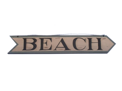 Wooden Beach Arrow Sign 33