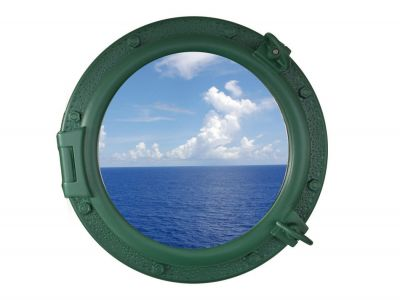 Seaworn Green Porthole Window 20