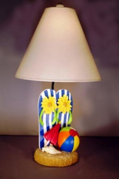 Beach Flipflop Electric Lamp 24