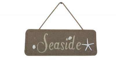 Wooden Seaside Shell and Starfish Sign 16""