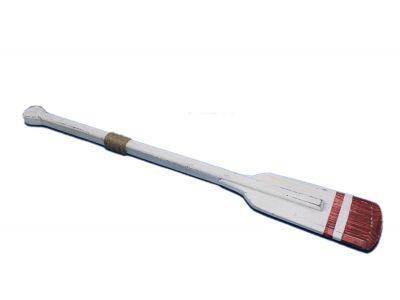 Wooden Rustic Sunderland Squared Rowing Oar w- Hooks 36