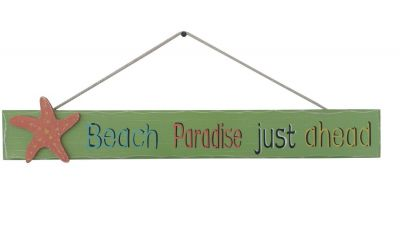 Wooden Beach Paradise Just Ahead Sign 24