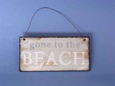 Tin Gone to the Beach Sign 6