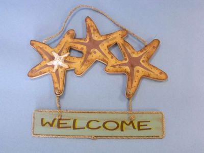 Wooden Starfish Welcome Sign 13