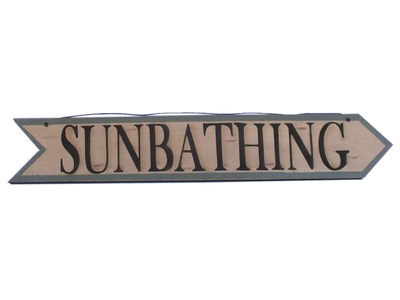 Wooden Sunbathing Arrow Sign 33
