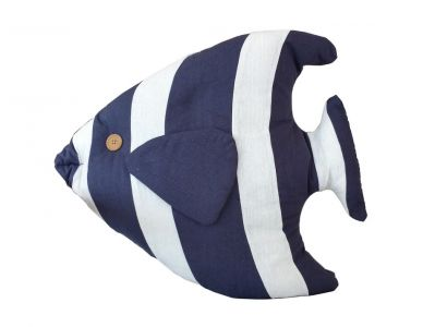 Blue Tropical Fish Pillow 18\