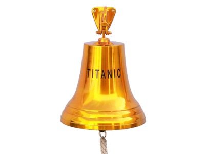 Solid Brass Titanic Ships Bell 18