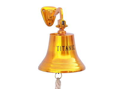 Solid Brass Titanic Ships Bell 15
