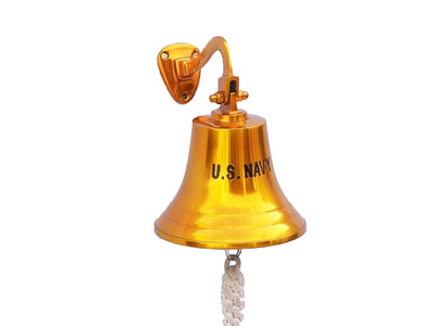 Solid Brass US Navy Ships Bell 9