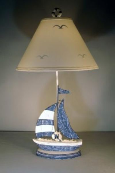 Blue Sailboat Electric Lamp 32