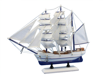 Wooden Malibu Decorative Sailing Model Ship 15""