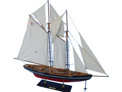 Wooden Bluenose Model Sailboat Decoration 35""