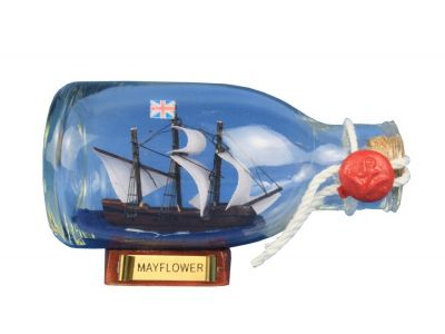 Mayflower Ship in a Glass Bottle 5