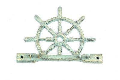 Antique Bronze Cast Iron Ship Wheel With Hook 8\