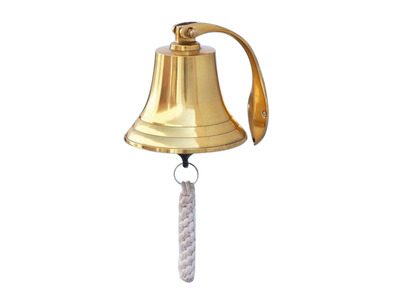 Brass Plated Hanging Harbor Bell 5.5\